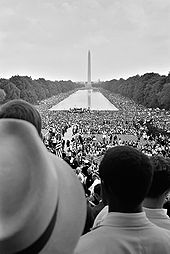 """The 1963 March on Washington was highlighted by King's """"I Have a Dream"""" speech. (Wikimedia Commons)"""