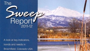 The Sweep Report by Marrton Dormish, with Karen Smith. (Cover design by Laura Vincent, BOSS Printing. Cover photo by David R. Jennings, Broomfield Enterprise.)