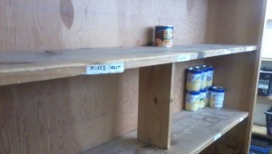The food bank at Broomfield FISH is currently running extra low on things like mixed fruit. (Marrton Dormish)