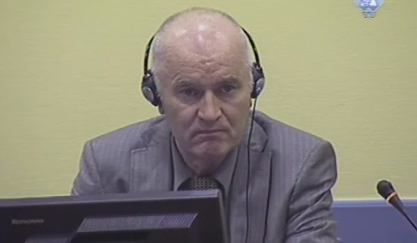 Former Bosnian Serb general Ratko Mladic at his initial court appearance. Taken on June 3, 2011. (By ICTY staff via Wikimedia Commons)