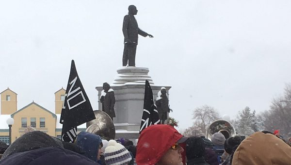 Marchers gather in celebratin of Dr. Martin Luther King, Jr.'s birthday in Denver's City Park on Monday, Jan. 16. (Marrton Dormish)